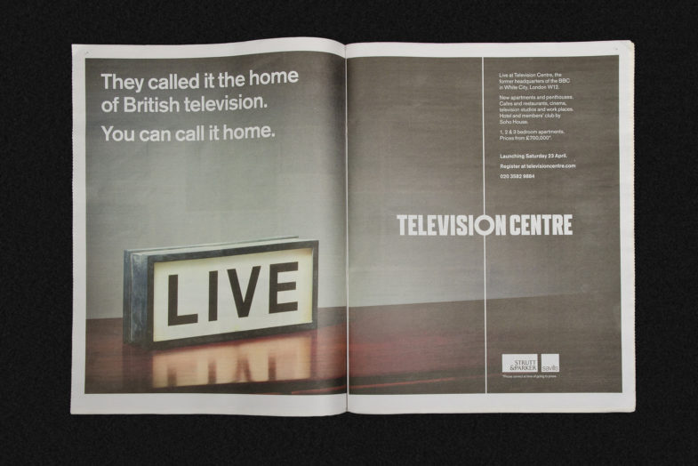 Tvc Live Newspaper Ad
